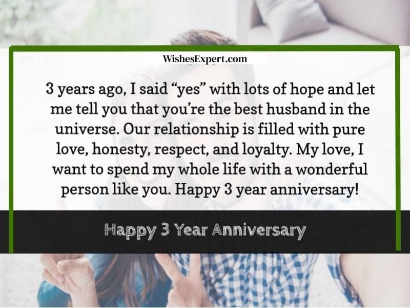 3rd year anniversary