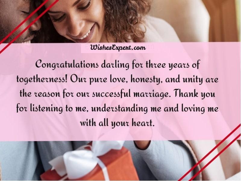 3 year wedding anniversary