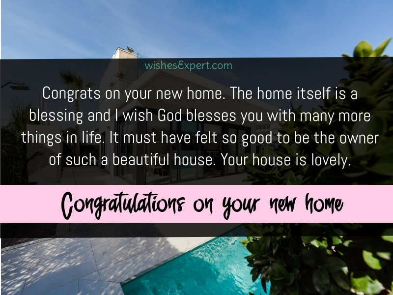 Congrats On Your New Home
