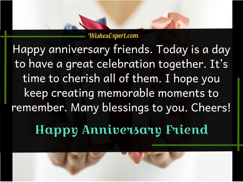 Anniversary Wishes For Friend