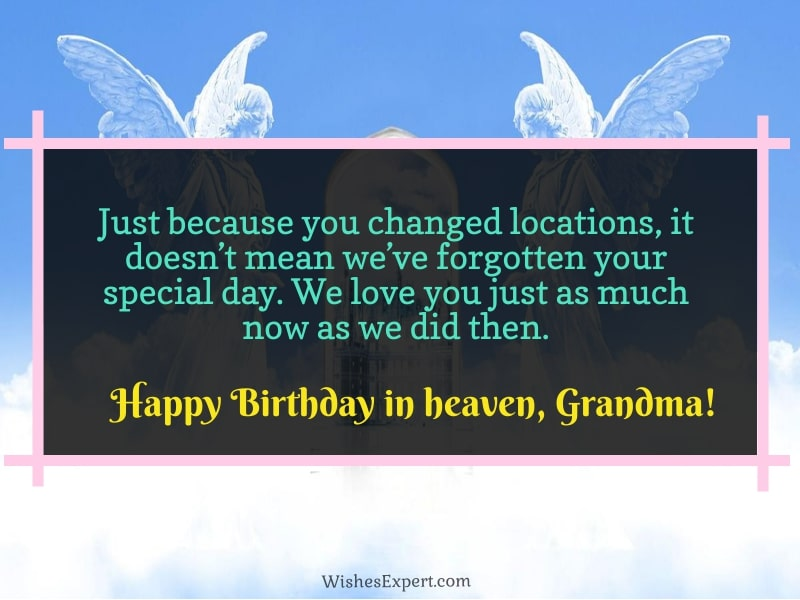 Happy Birthday In Heaven Grandma