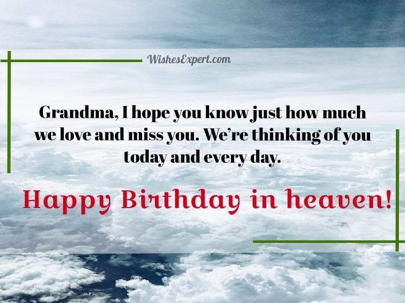 Happy Heavenly Birthday Grandma