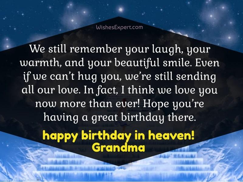Happy Birthday In Heaven Grandma