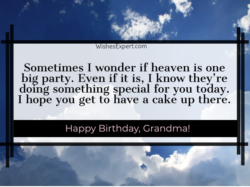 Happy Heavenly Birthday Grandma