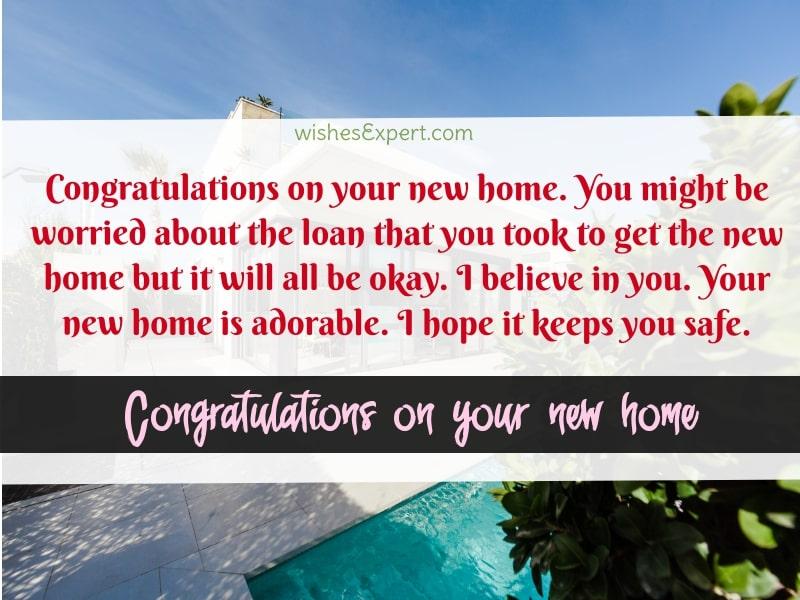New Home Congratulations