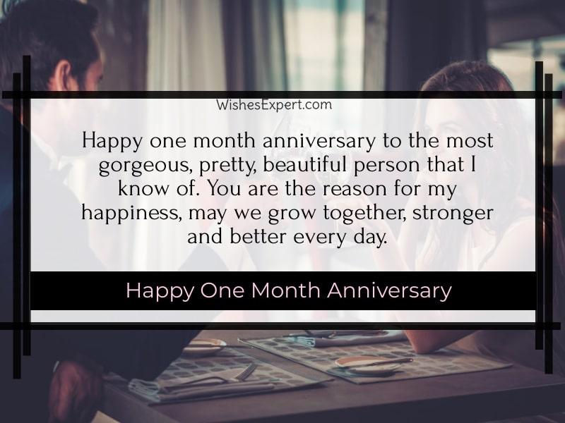 One Month Anniversary