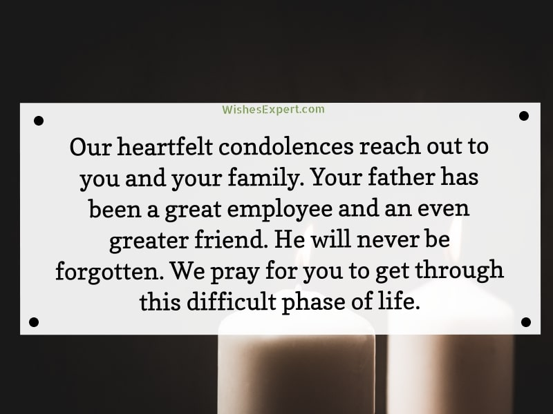 Condolence Message On Death Of Father