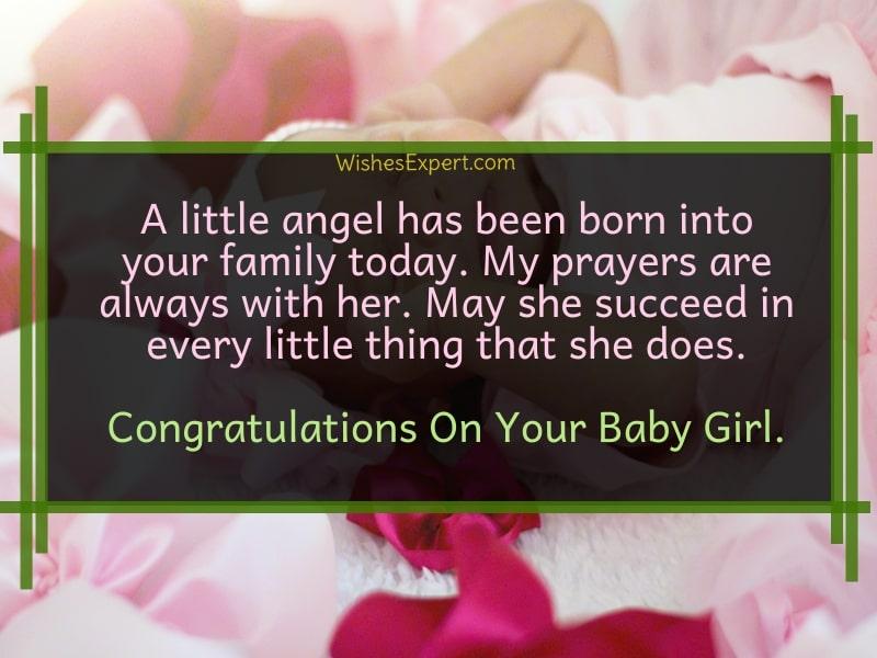 Congrats on baby girl