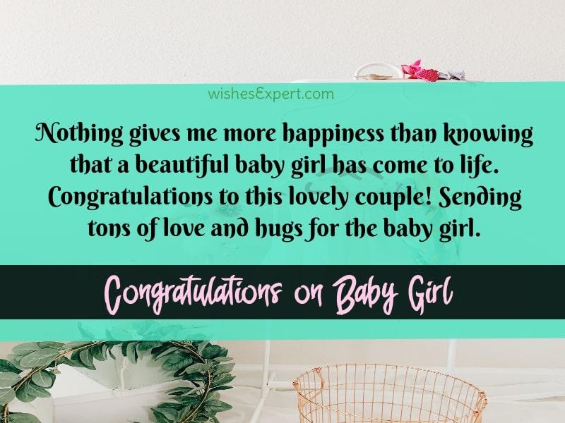 Congratulations Baby Girl