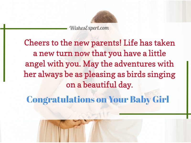 Congratulations On Your Baby Girl
