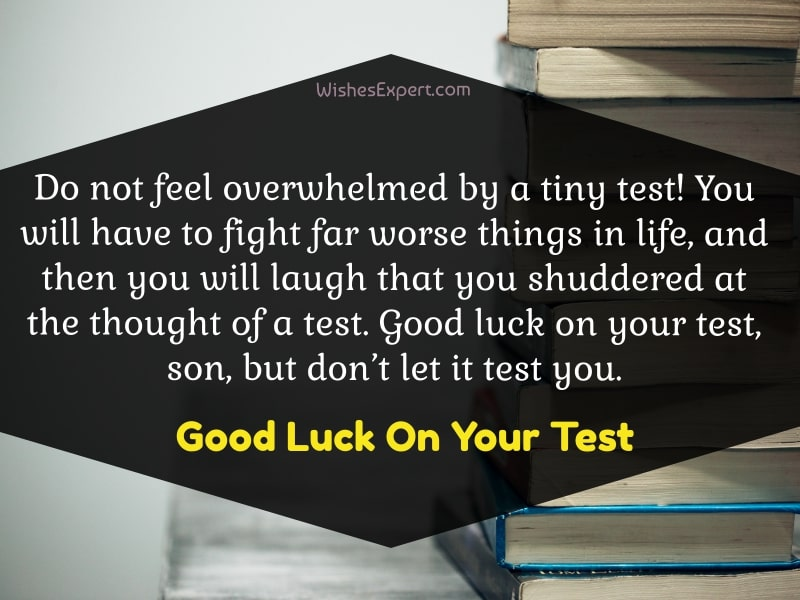 Good Luck On Your Test