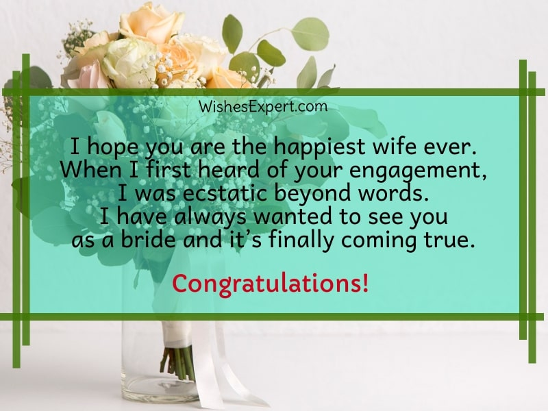 bridal shower wishes