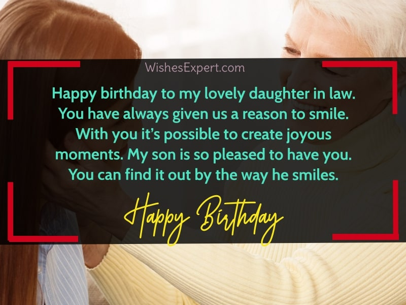 Happy Birthday to My Daughter In Law
