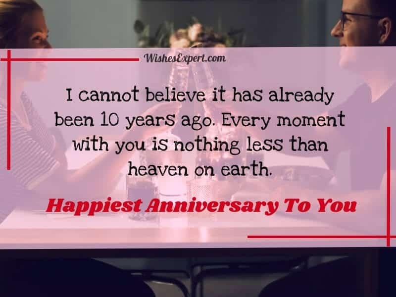 10 Year Anniversary Wishes