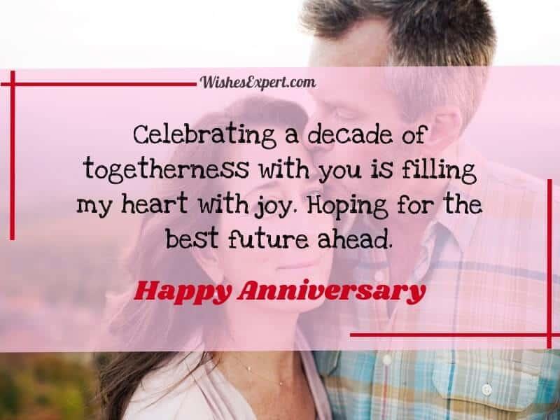 Happy 10th Anniversary Wishes