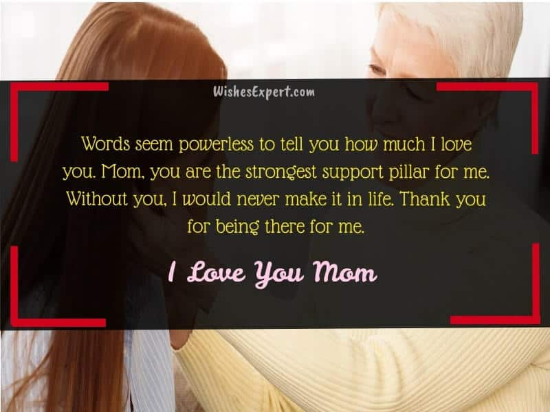 I Love You Mom Quotes From Daughter