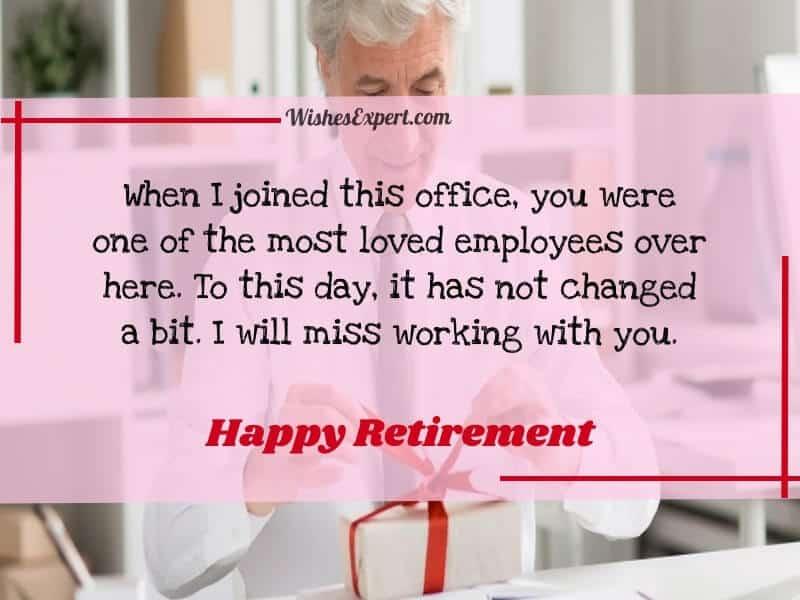 Happy Retirement Message