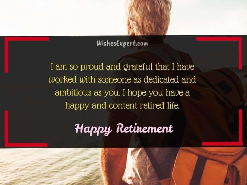 Congratulation Message for Retirement