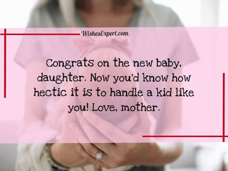 Congrats on new baby