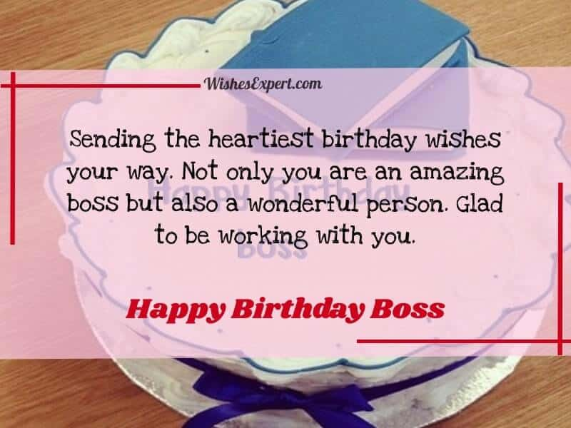 birthday quotes and message for boss
