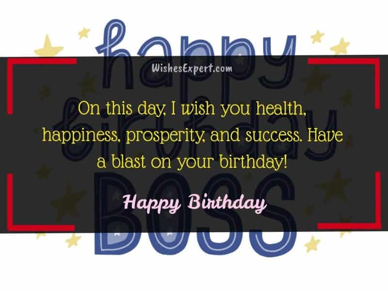 best birthday wishes for boss