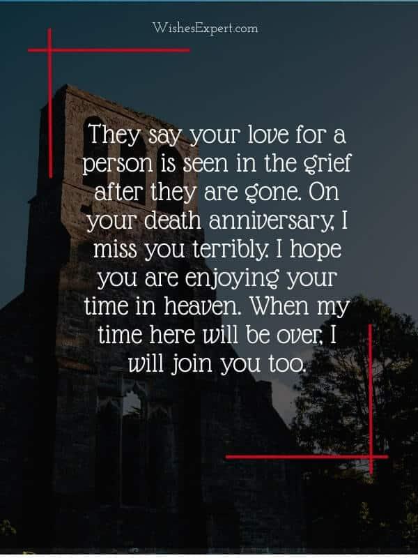 Death Anniversary Message