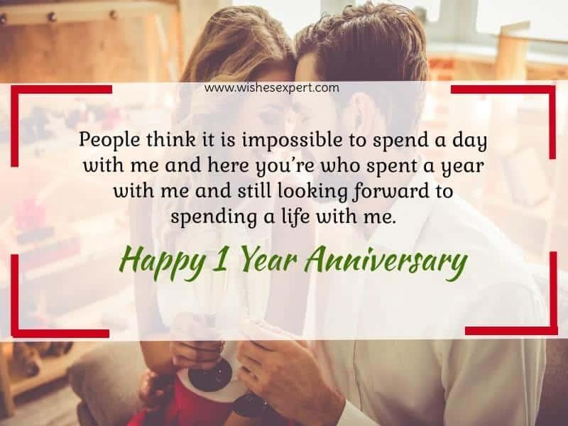 1 Year Wedding Anniversary