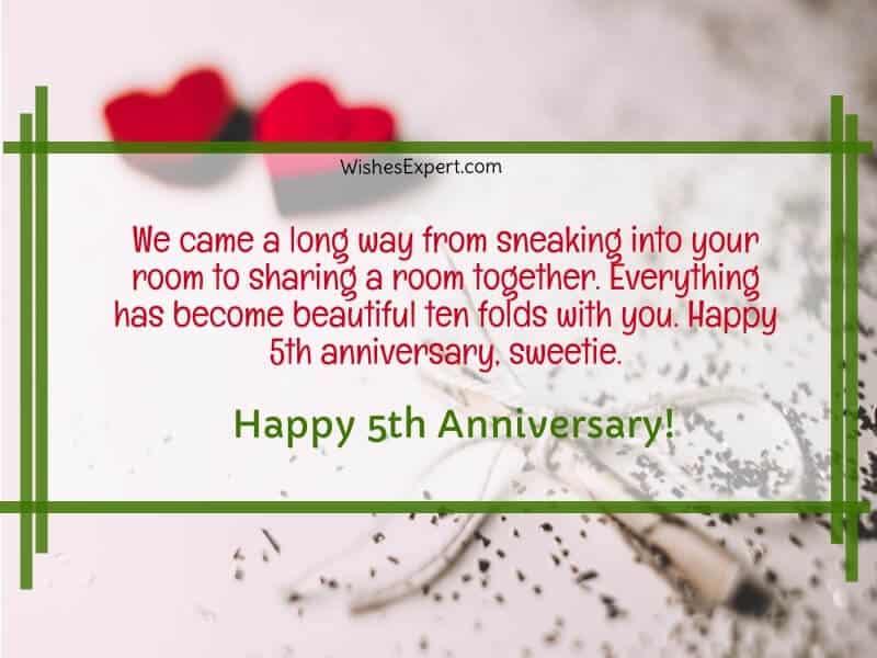 Happy 5 Year Anniversary