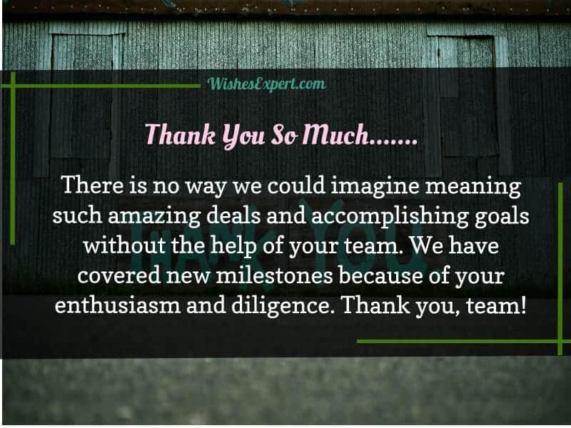 Thank You Team Quotes