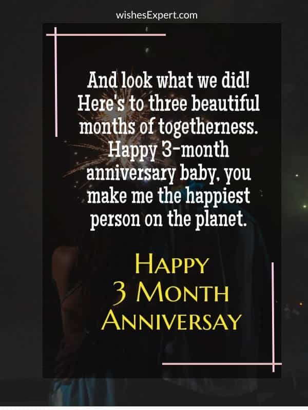 3 Month Anniversary Quotes
