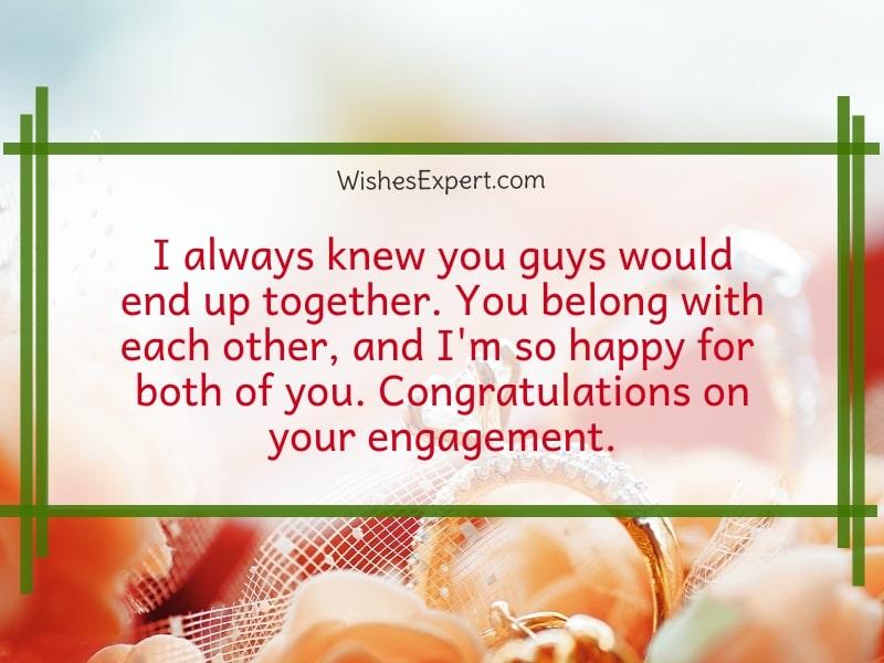 engagement congratulations quotes