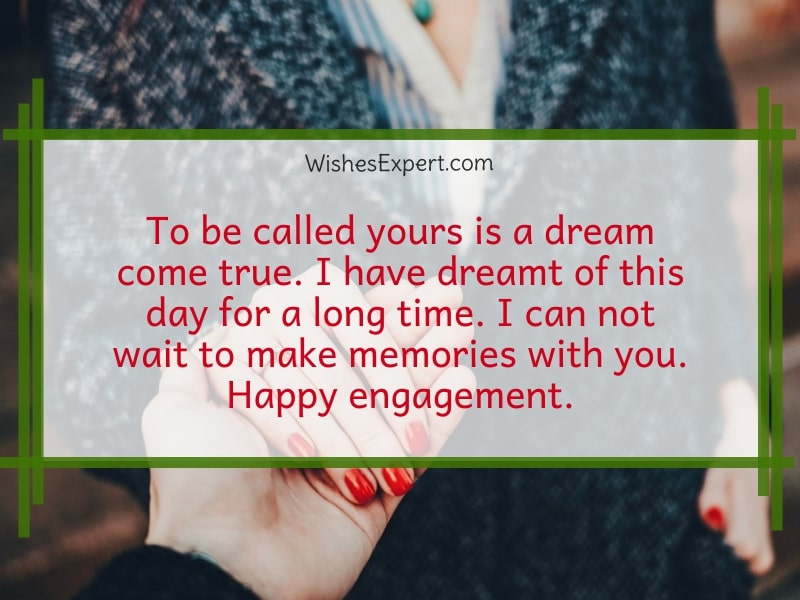 romantic engagement wishes