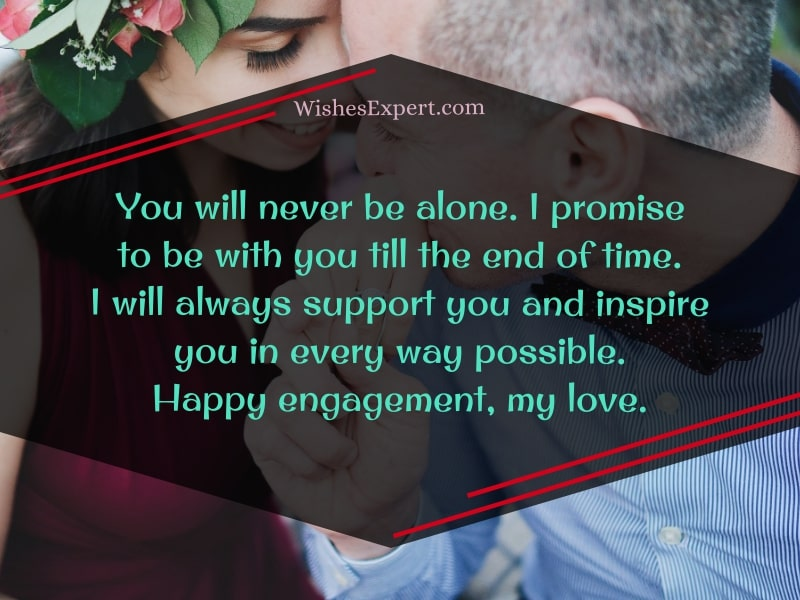 romantic wishes on engagement