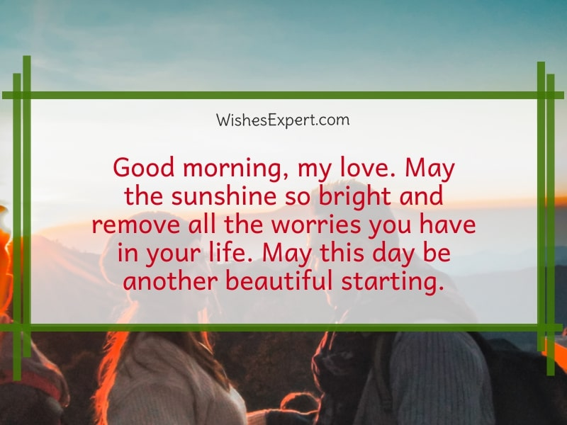 good morning my love message for her