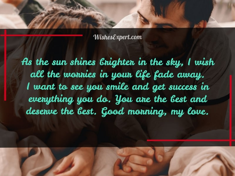 long good morning message for her