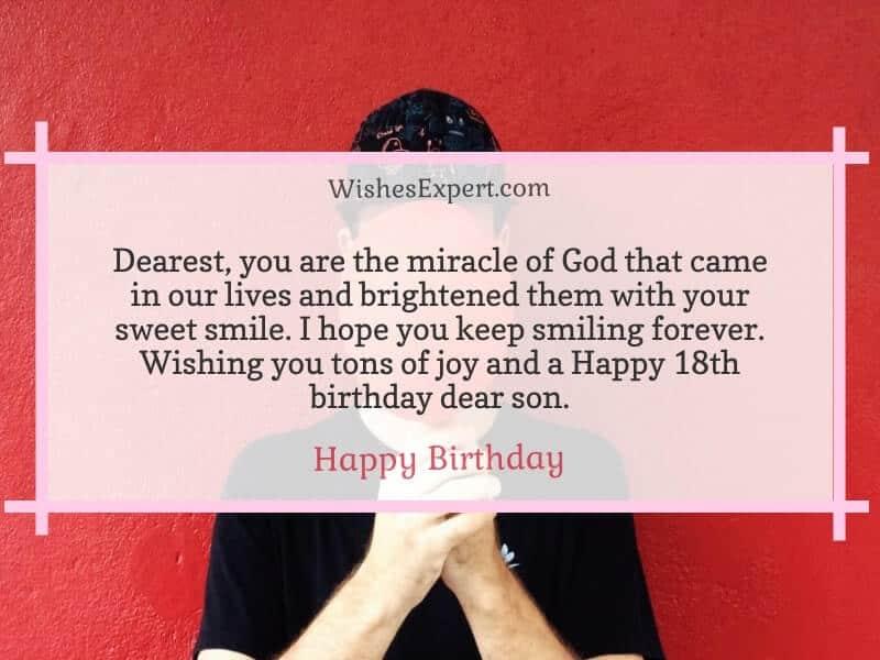 Happy 18th Birthday Son