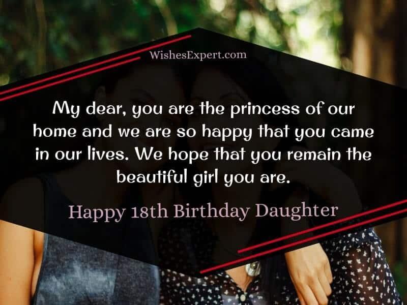 Happy 18th Birthday Daughter