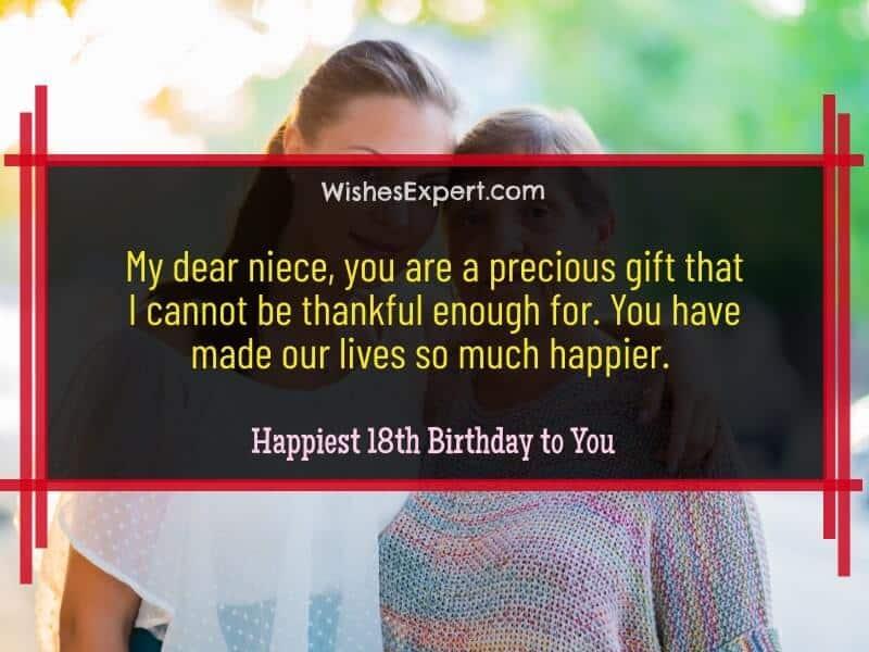 Happy 18th Birthday Niece