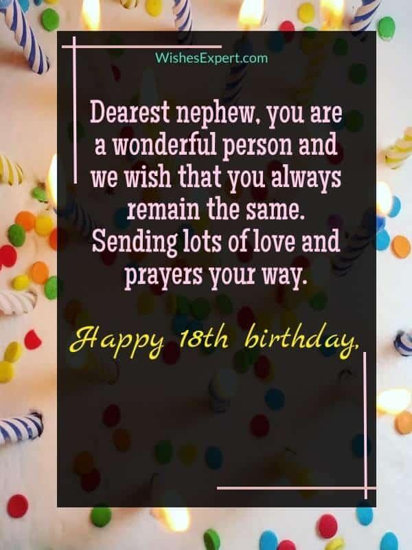 Happy 18th Birthday Nephew