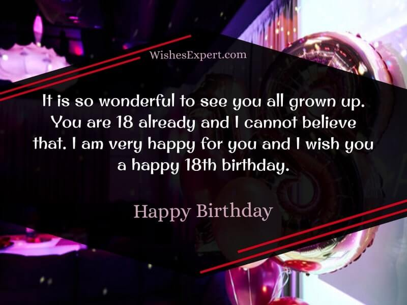 18th birthday wishes and messages