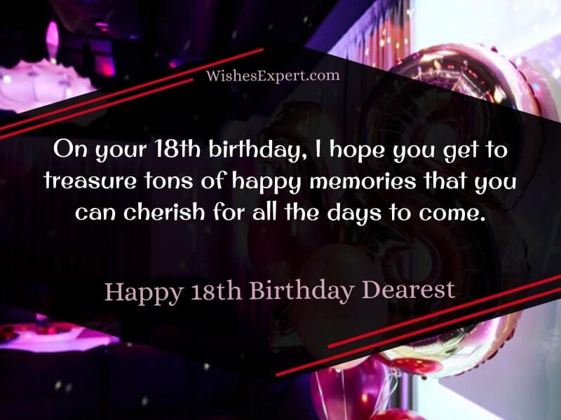 Happy 18th Birthday Wishes with Images