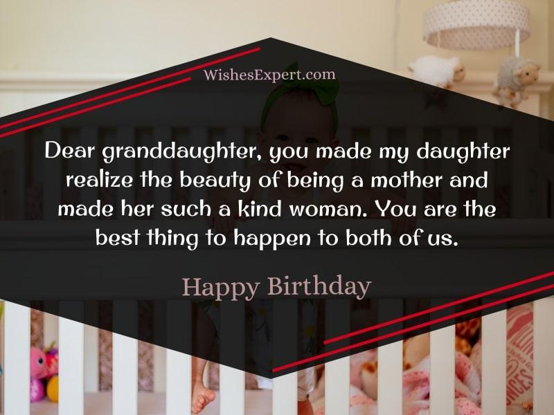 Happy birthday to my granddaughter