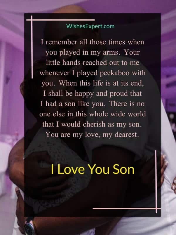 love messages for son