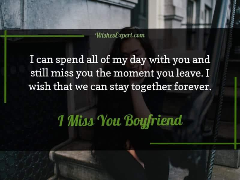 I miss my boyfriend messages
