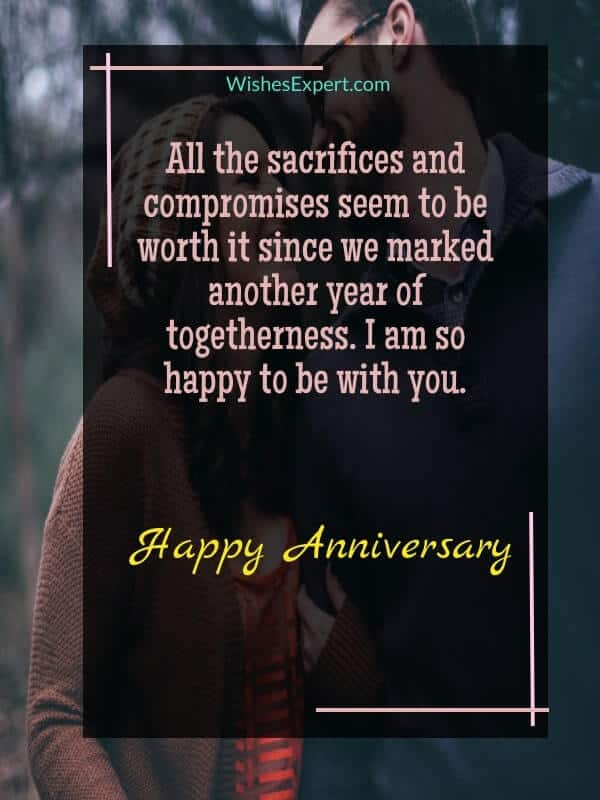 happy anniversary saying for him