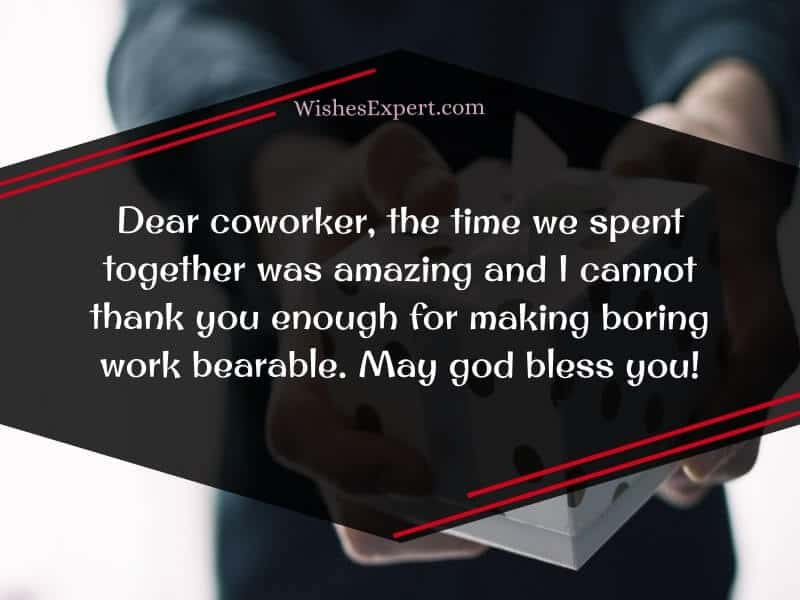 farewell message to coworker