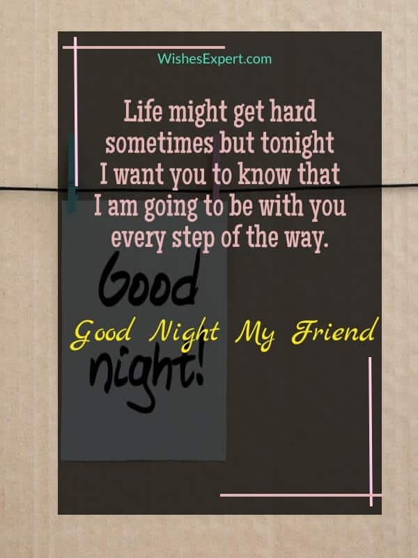 good night messages for friend
