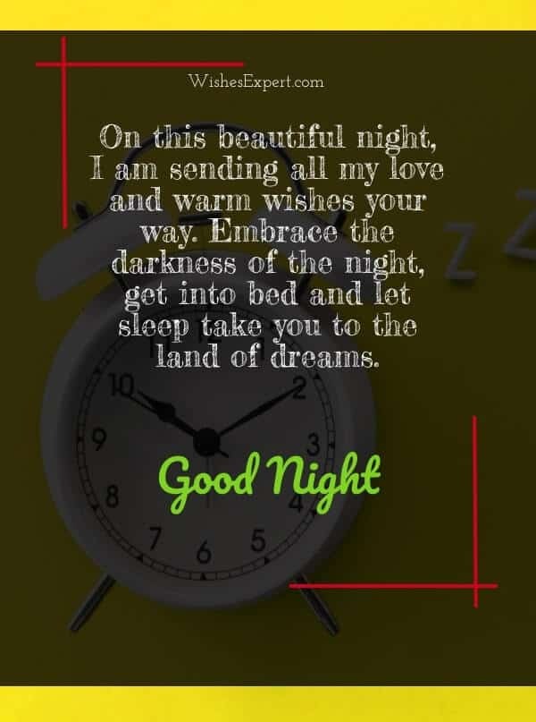 good night messages for my friend