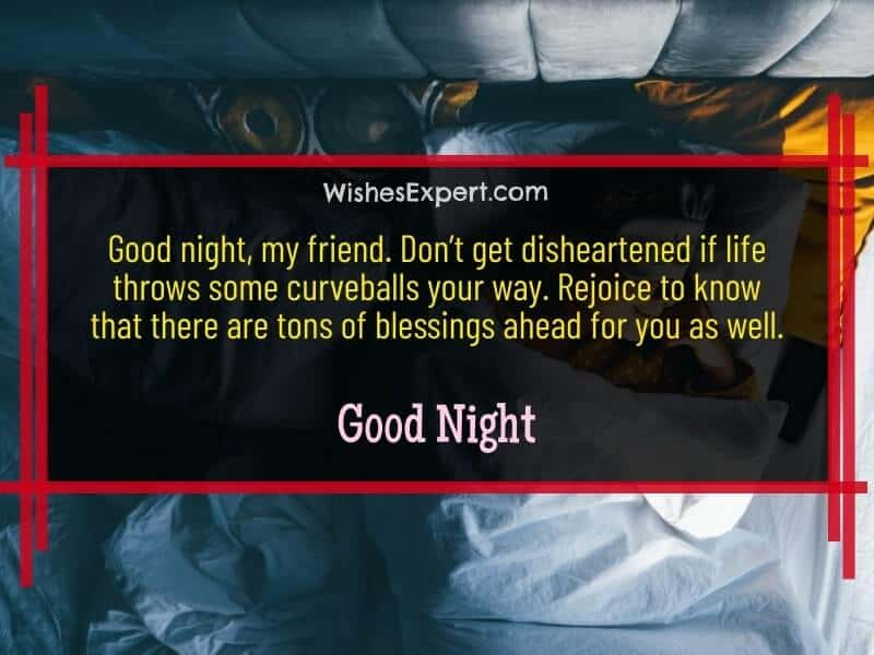 good night quotes for my friend