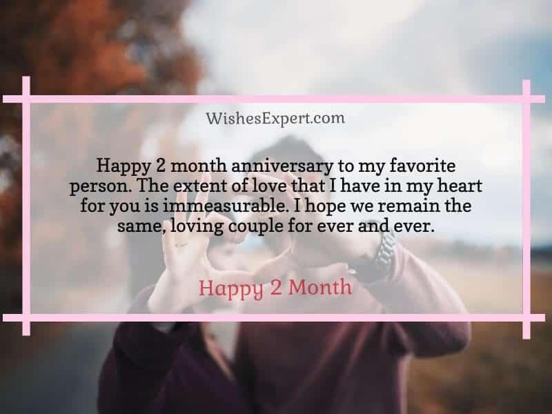 2 month anniversary wishes